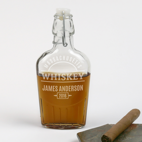 Personalized State Whiskey Flask