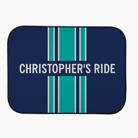Personalized Stripe Back Car Mat