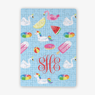 Personalized Summer Fun Monogram Kids Puzzle / 80 Pieces