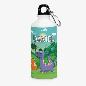 Personalized Dinosaurs Aluminum Water Bottle