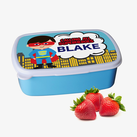 Superheroes Personalized Plastic Lunch Box