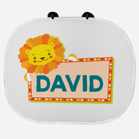 Personalized Sunshade Guard with 2 Suction Cups for Kids