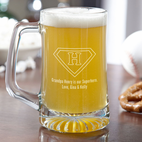 Personalized Superhero Beer Mug