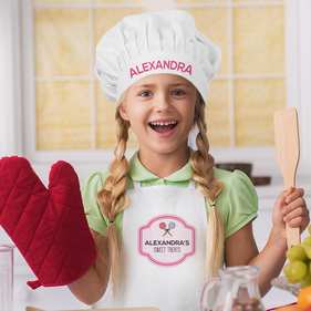 Personalized Sweet Treats Apron & Hat Set