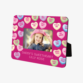 Personalized Sweetheart Hardboard Picture Frame