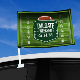 Personalized Tailgate Weekend Car Flag