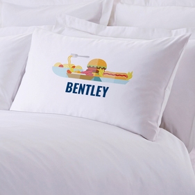 Personalized Tasty Fast Food Kids Pillowcase