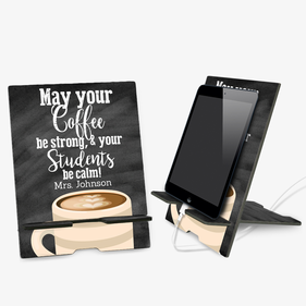 Personalized Teacher Book and Ipad Stand
