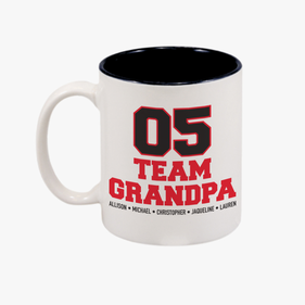Personalized Team Grandpa Coffee Mug
