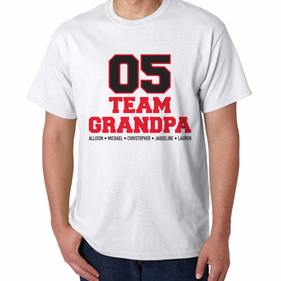 Personalized Team Grandpa T -Shirt