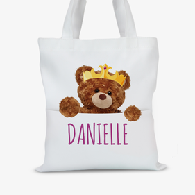 Personalized Teddy Bear Tote Bag
