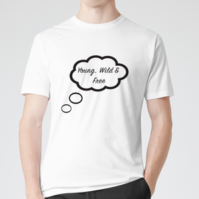 Personalized Teen Thinking While I Sleep T-Shirt