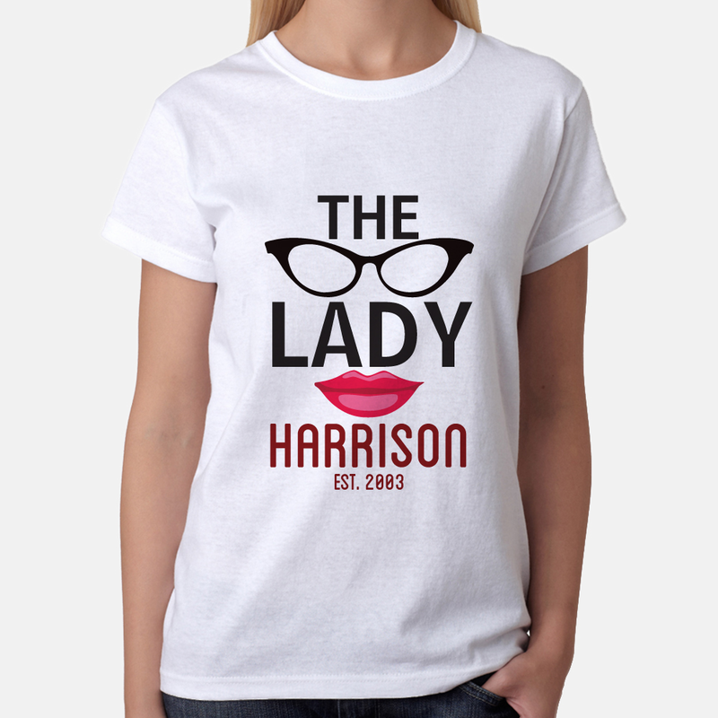 Personalized The Lady T Shirt Monogram Online