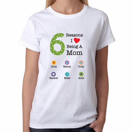Personalized Reasons T-shirt for Mom