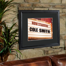 Personalized Theater Frame