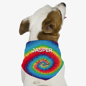 Personalized Tie Dye Dog Bandana