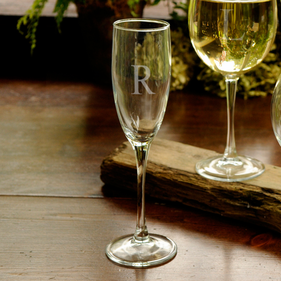 Personalized with Initial Toasting Glass