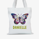 Personalized Butterfly Tote Bag