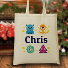 Personalized Little Monsters Tote Bag
