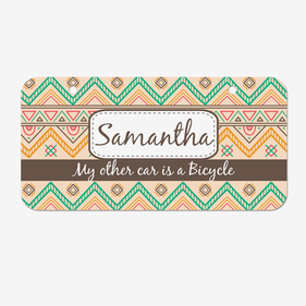 Personalized Tribal Pattern License Plates