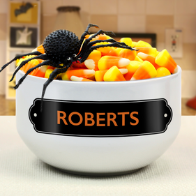 Personalized Trick Or Treat Ceramic Bowl