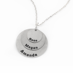 Personalized Triple Full Circle Name Necklace