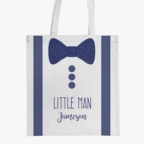 Personalized Tuxedo Kids Tote Bag