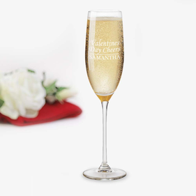 Personalized Valentine's Day Cheers Toasting Flute