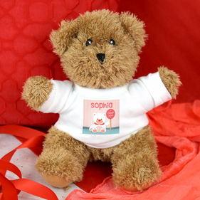 Personalized Honey the Bear Valentines Teddy Bear