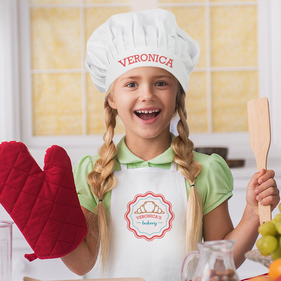 Personalized Veronica's Croissant Apron & Hat Set
