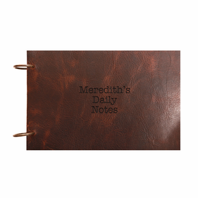 Personalized Vintage Leather Book Binder w/ Rings