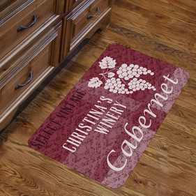 Personalized Vintage Winery Design Floor Mat