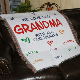 Personalized We Love You Tapestry