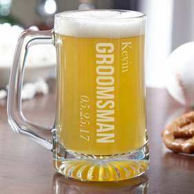 Personalized Wedding Party Beer Mug
