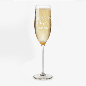 Personalized Wedding Party Toasting Flute