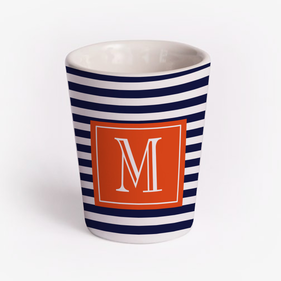 Personalized White Ceramic Shot Glass