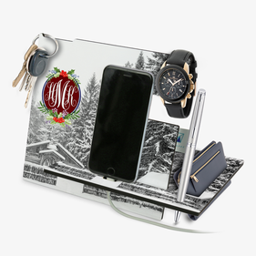 Personalized Winter Landscape Desk Organizer