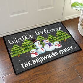Personalized Winter Welcome Doormat