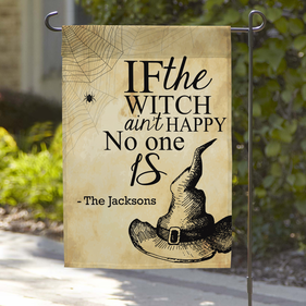 Personalized Witches Hat Garden Flag