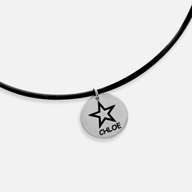 Personalized with Rock Star Name Necklace for kids