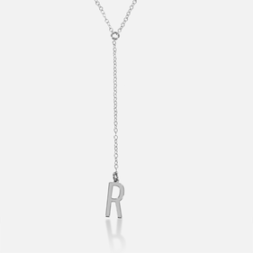 Personalized With Single Initial Lariat Necklace