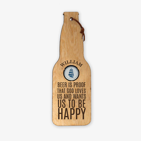 Personalized Wood Beer Cap Bottle Holder