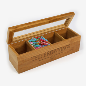 Personalized Wood Storage Box