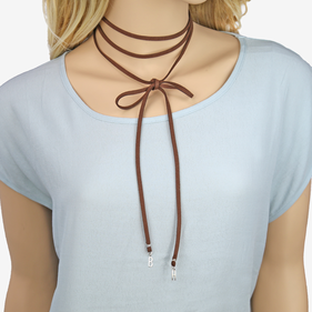 Personalized Wrap Around Initials Choker Necklace
