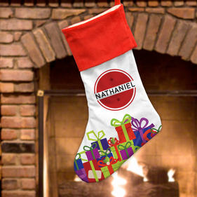 Personalized Wrapped Gifts Christmas Stocking