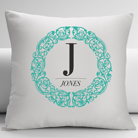 Personalized Wreath Decorative Cushion Cover