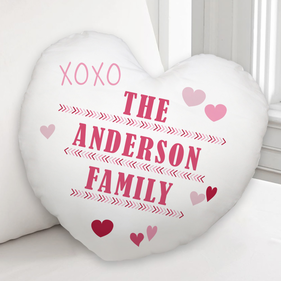 Personalized XOXO Family Cushion