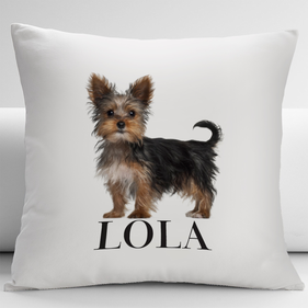 Personalized Yorkshire Terrier Pets Decorative Cushion Cover