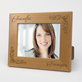 Exclusive Sale - PersonalizedScript Name Wood Picture Frame