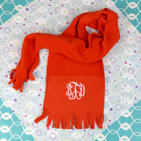 Personalized Microfleece Scarf for Girls